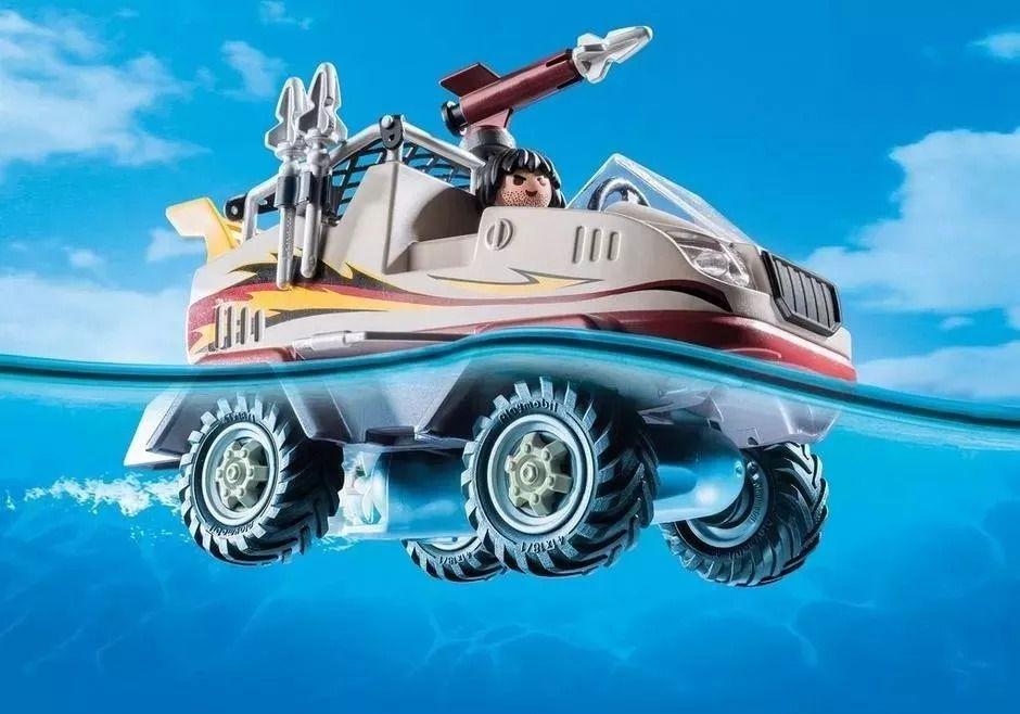 Playmobil City Action Caminhão Anfíbio Flutua e Com Motor Subaquatico - Sunny  - Doce Diversão