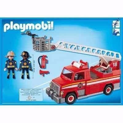 Playmobil City Action Caminhão Bombeiros Com Escada e Luz - Sunny  - Doce Diversão