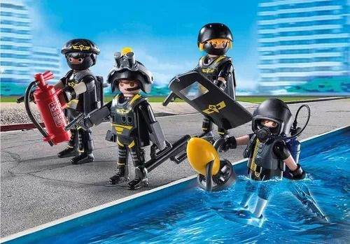 Playmobil City Action Equipe Unidade Tatica Com 4 Bonecos - Sunny  - Doce Diversão