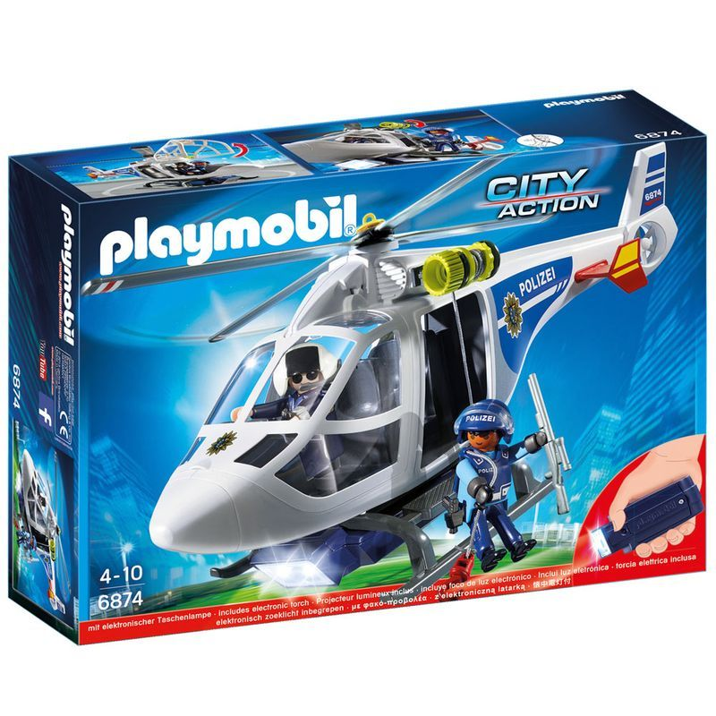 Playmobil City Action Helicóptero de Polícia - Sunny  - Doce Diversão