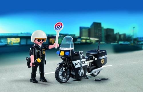 Playmobil City Action Maleta Policial C/ Moto  13 peças  - Doce Diversão