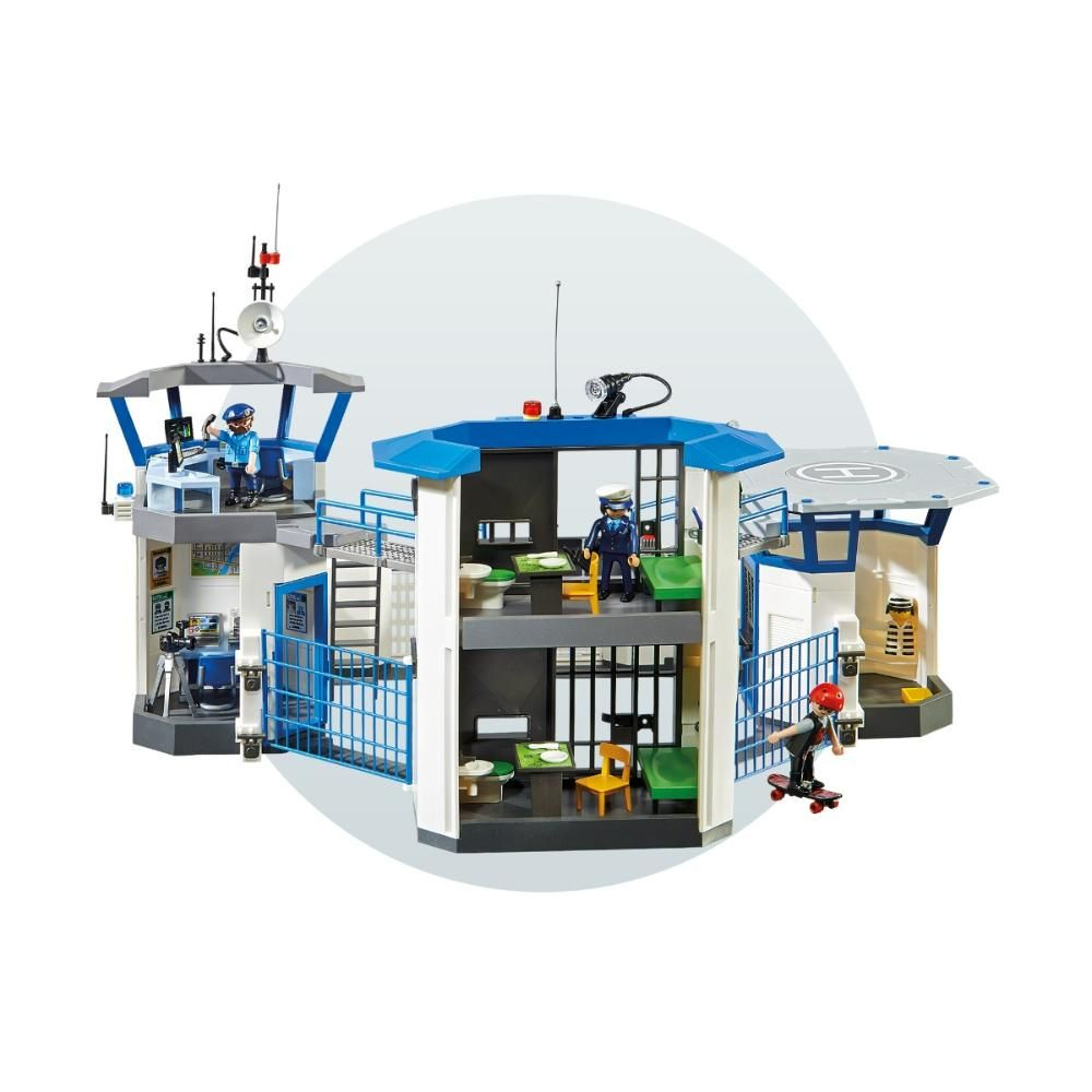 Playmobil City Action Policial Complexo Penitenciario  - Sunny   - Doce Diversão