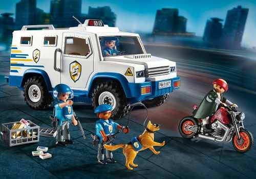 Playmobil City Carro Forte Policia C/ Policiais E Bandido   - Doce Diversão