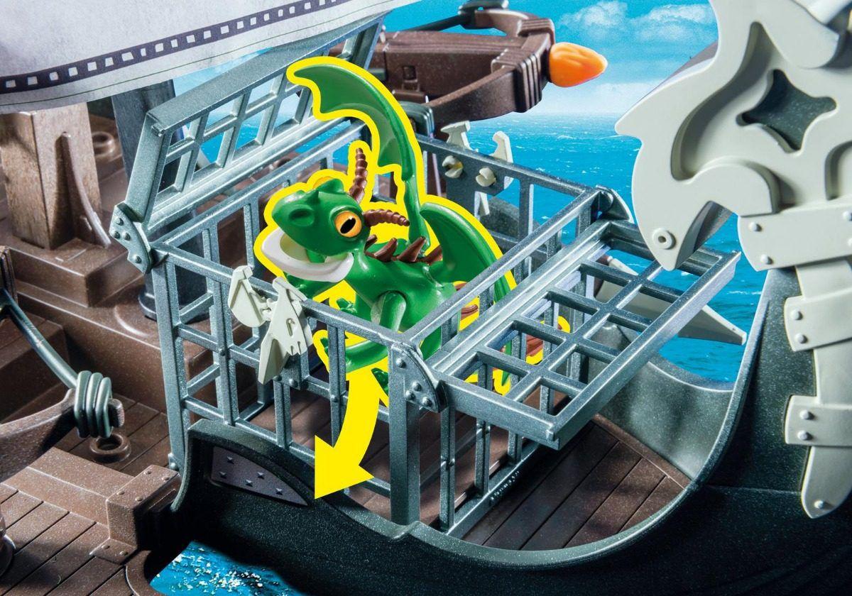 Playmobil Como Treinar O Seu Dragão - Navio De Caça Drago – 45 peças  - Doce Diversão