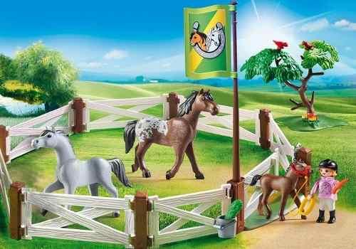 Playmobil Country Cercado de Cavalos  - Sunny  - Doce Diversão