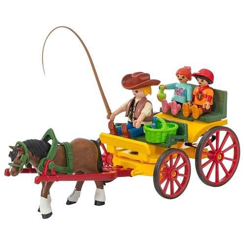 Playmobil Country - Charrete Com Cavalos - Sunny   - Doce Diversão