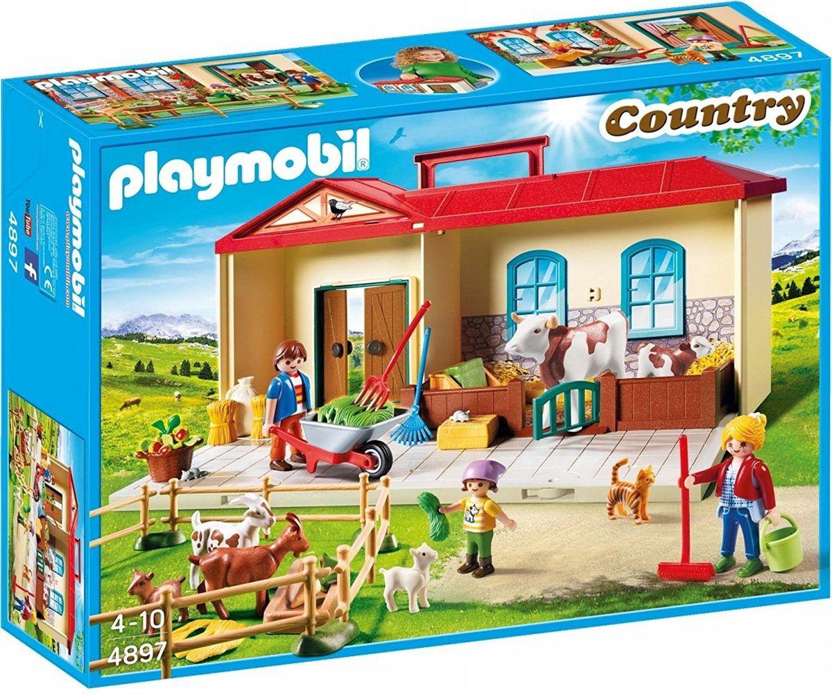 Playmobil Country – Maleta Playset Box Fazenda - Sunny   - Doce Diversão