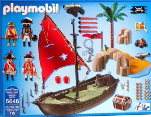 Playmobil Navio Pirata Com Soldados e Ilha - Sunny  - Doce Diversão