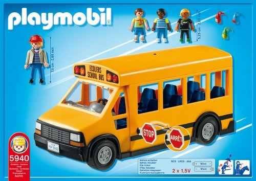 Playmobil Ônibus Escolar City Life C/ 12 Peças Sunny  - Doce Diversão