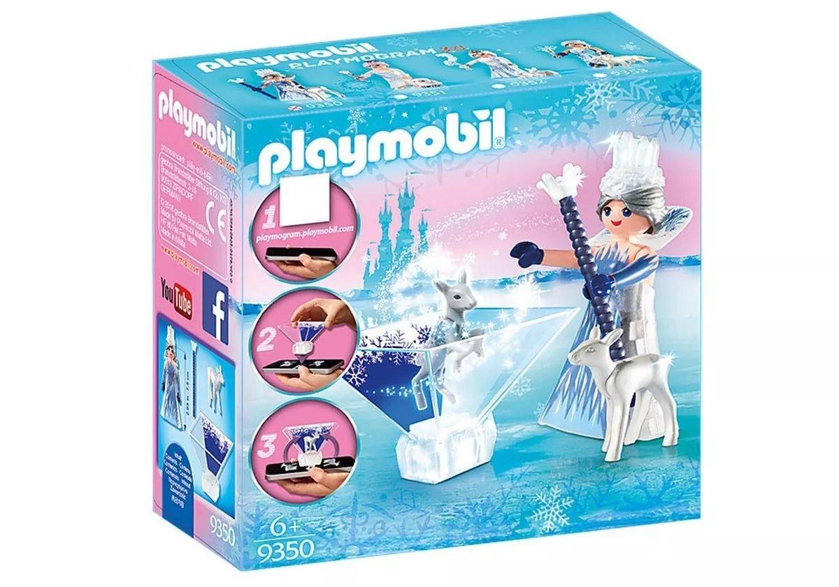 Playmobil 9350 - Princesa Cristal No Gelo Com APP Playmogram 3D - Sunny  - Doce Diversão