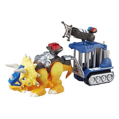Playskool Chomp Squad Dino Trailer Cela C/ Som e Luz - Hasbro   - Doce Diversão