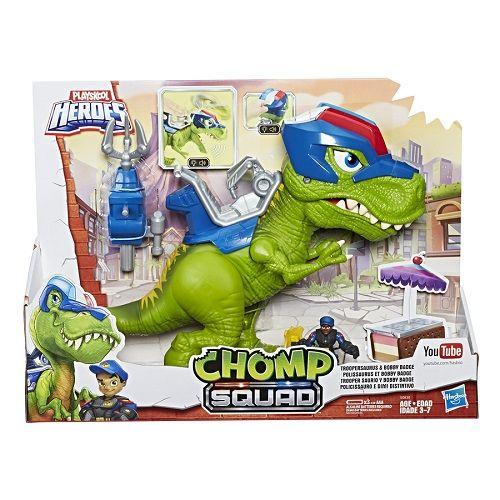 Playskool Chomp Squad Dinossauro T-Rex C/ som e luz Hasbro   - Doce Diversão