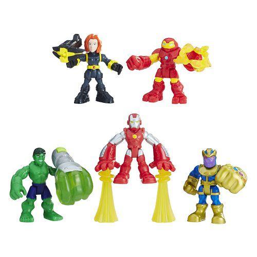 Playskool Heroes Marvel Esquadrão Poderoso C/5 Hasbro  - Doce Diversão