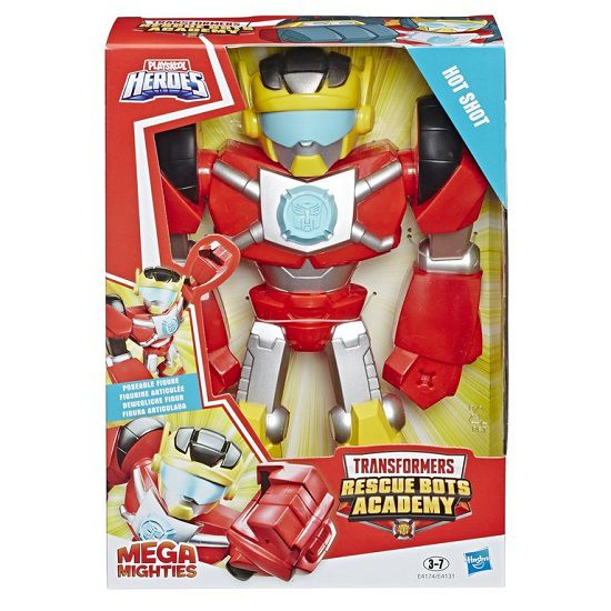 Playskool Heroes Transformers Rescue Bots Academy Mega Mighties  Hot Shot - Hasbro   - Doce Diversão