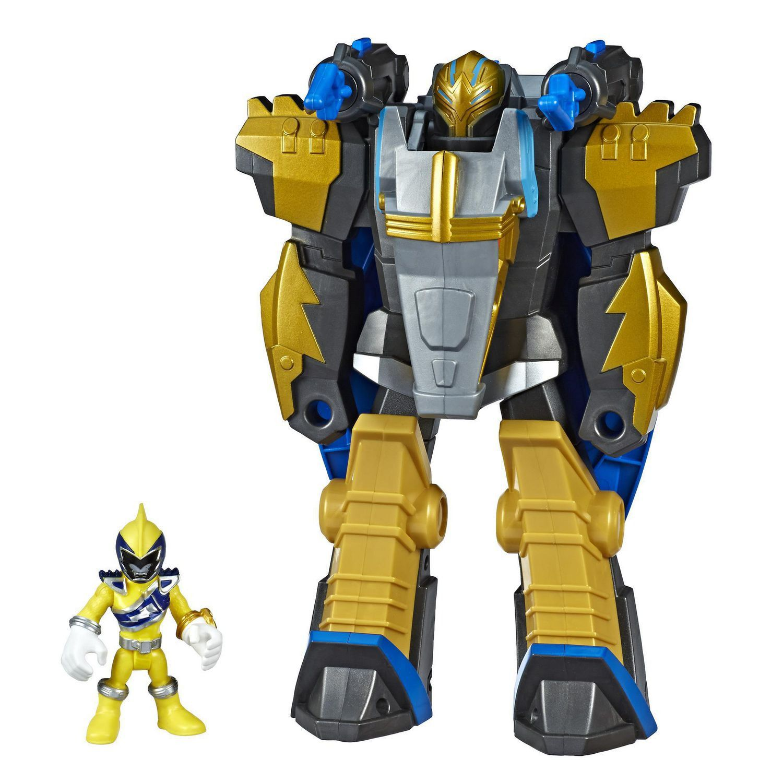 Playskool Power Rangers Sabans - Gold Ranger e Pterazord Converte 2 em 1   - Hasbro  - Doce Diversão
