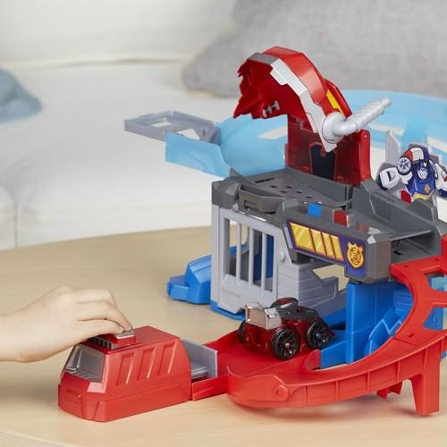 Playskool Transformers Rescue Bots Pista Corrida e Captura Flip Racer - Hasbro  - Doce Diversão