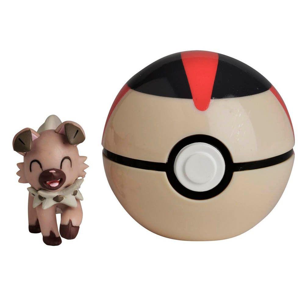 Pokémon Clip N Go Pokébola Com Clip -1 Rockruff e Turno Ball Dtc   - Doce Diversão
