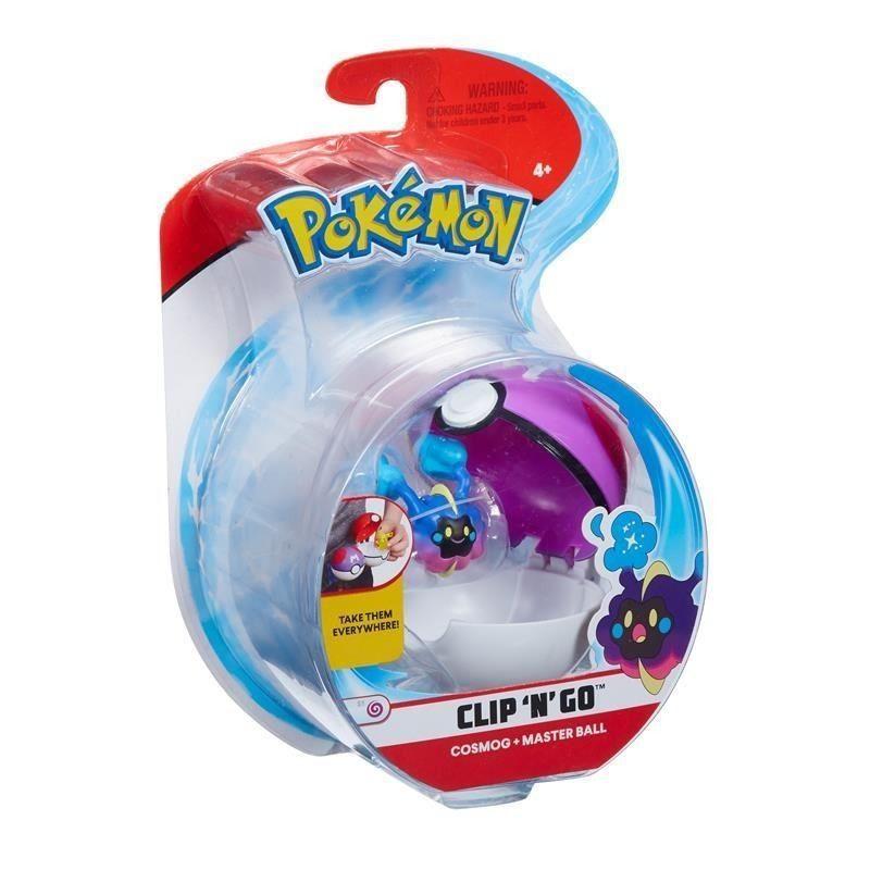 Pokémon Clip N Go Pokébola Com Clip - Cosmog e Master Ball Dtc   - Doce Diversão