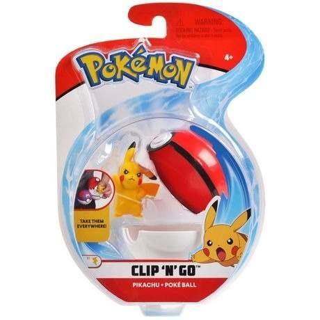 Pokémon Clip N Go Pokébola Com Clip e Pikachu Pokéball Dtc   - Doce Diversão