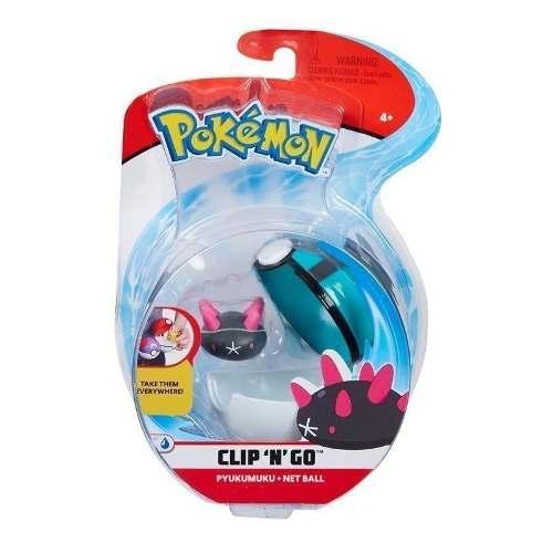 Pokémon Clip N Go Pokébola Com Clip - Pyukumuku e Malla Ball Dtc   - Doce Diversão