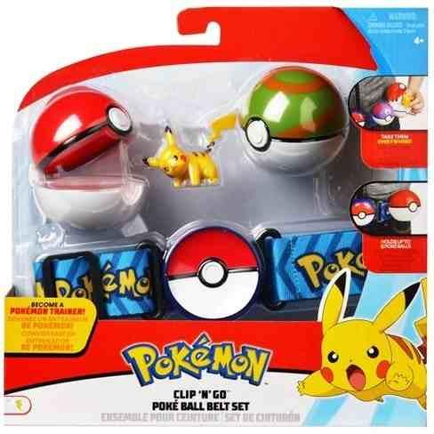 Pokémon kit – Cinto Clip Go + 2 Pokebola + Pikachu - DTC  - Doce Diversão