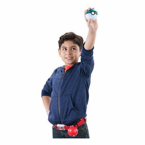 Pokémon kit – Cinto Clip + Pokebola + Ultraball + Pikachu Tomy   - Doce Diversão