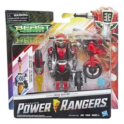 Power Rangers Beast Morphers - Cruise BeastBot Deluxe Articulado 15 cm- Hasbro  - Doce Diversão