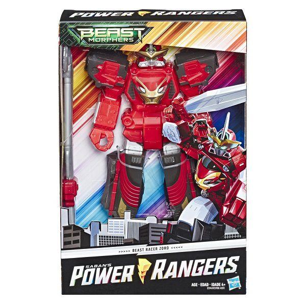 Power Rangers Beast Morphers Megazord Racer Zord 30cm  Articulado Hasbro  - Doce Diversão
