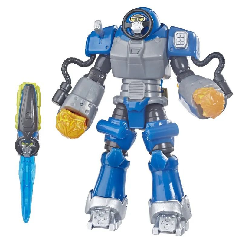 Power Rangers Beast Morphers - Smash BeastBot Deluxe Articulado 15 cm- Hasbro  - Doce Diversão