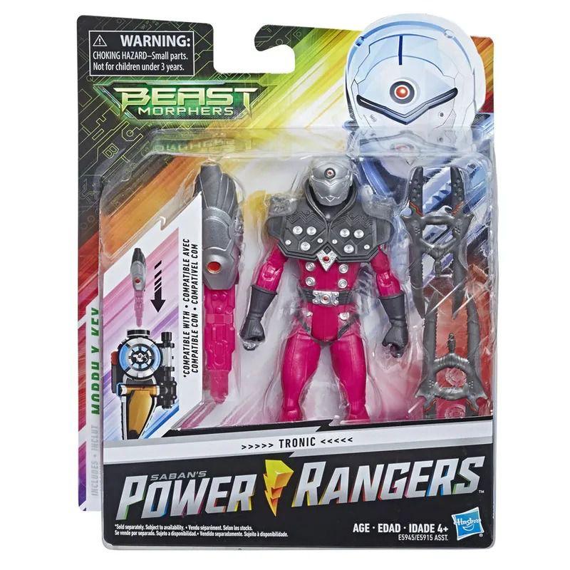 Power Rangers Beast Morphers - Tronic Deluxe Articulado 15 cm- Hasbro  - Doce Diversão