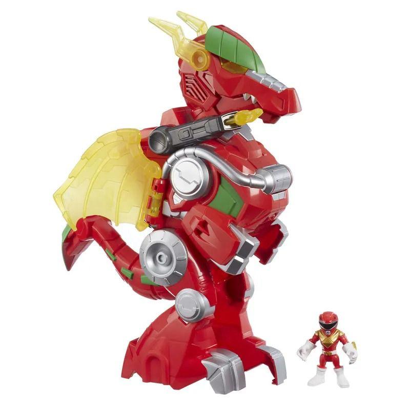 Power Rangers Morph Sabans - Red Ranger e Dragon Thunderzord 39 cm Com Som e luz - Hasbro  - Doce Diversão