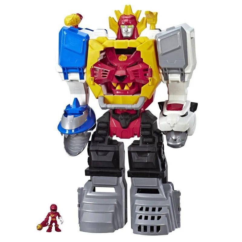 Power Rangers Sabans – Megazord Gigante Morfador 63 cm Som E luz – 2 em 1 Zord e Animal – Hasbro  - Doce Diversão