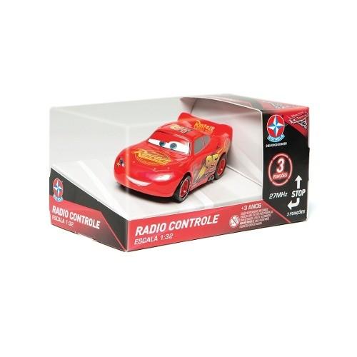 Radio Controle 3 funções Disney Carros 3 Relampago Mcqueen 1:32 – Estrela  - Doce Diversão
