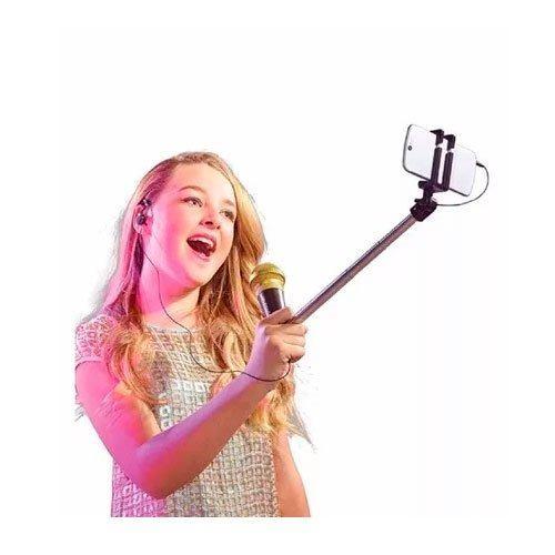 Selfie Mic Preto – Cante e Grave Videos Com App - Estrela   - Doce Diversão