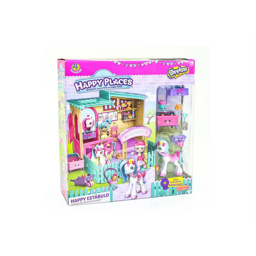Shopkins Happy Places – Happy Estábulo C/ Pônei - DTC  - Doce Diversão