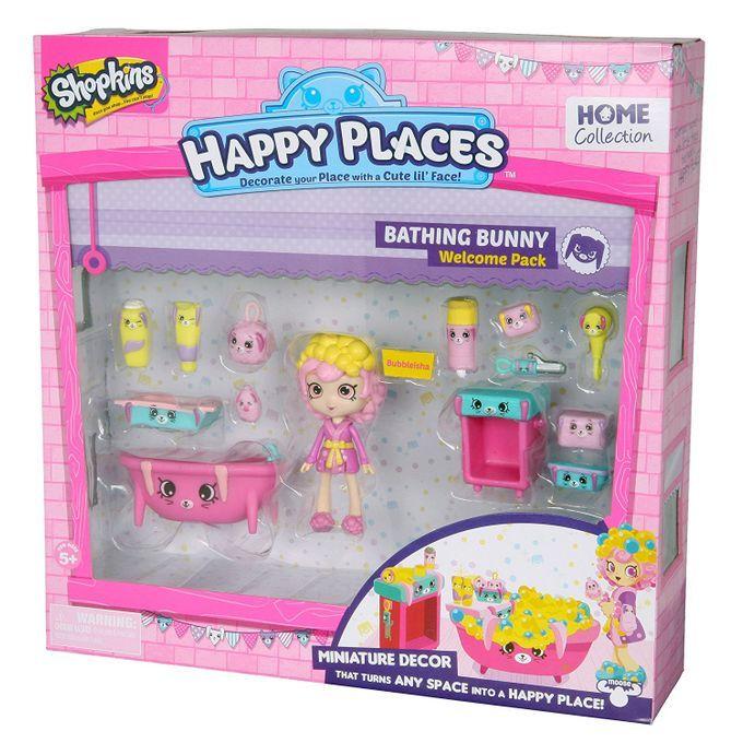 Shopkins Happy Places - Kit Boas-Vindas Banheiro Coelhinhos Chicléia DTC  - Doce Diversão