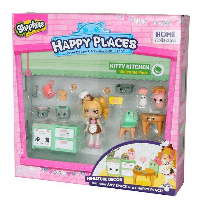 Shopkins Happy Places - Kit Boas-Vindas Cozinha Gatinhos - Bia Biscoito DTC  - Doce Diversão