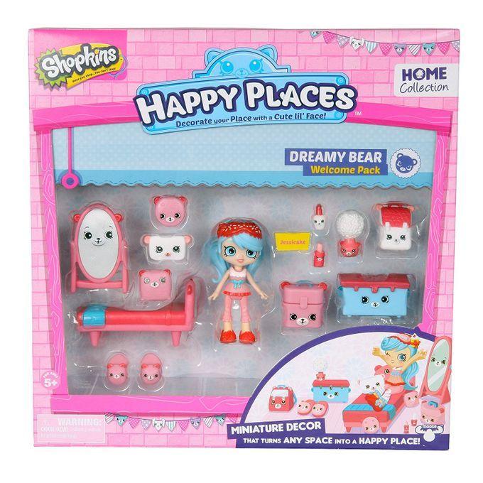 Shopkins Happy Places - Kit Boas-Vindas Quarto Ursinhos da Jessicake Dtc  - Doce Diversão