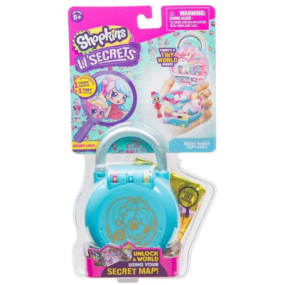 Shopkins Lil Secrets – Cadeado Com Segredo – Confeitaria Cupcakes - Dtc   - Doce Diversão