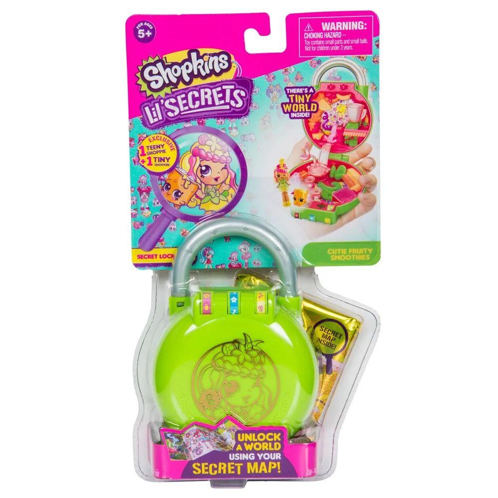 Shopkins Lil Secrets – Cadeado Com Segredo – Quiosque Frutas - Dtc   - Doce Diversão