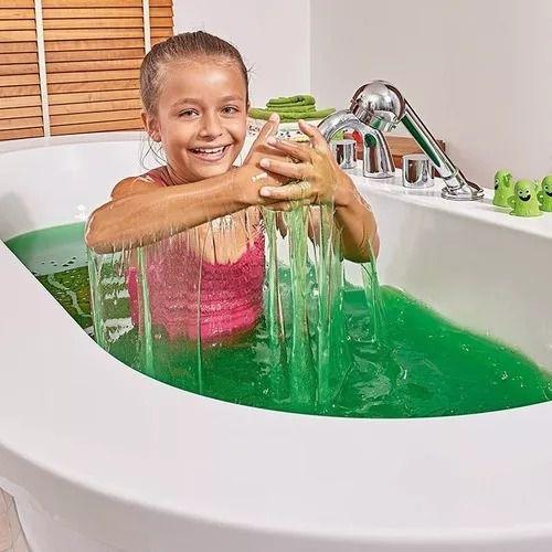 Slime Baff Verde – Transforma água Banho em Gosma Pegajosa 150gr - Sunny   - Doce Diversão