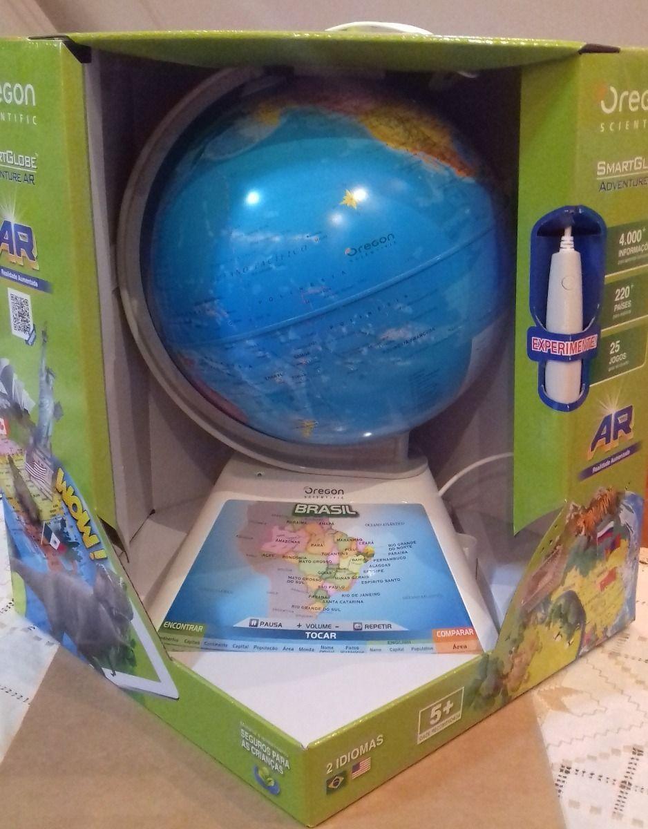 Smart Globe Discovery AR Com Caneta Interativa e APP - Fun  - Doce Diversão