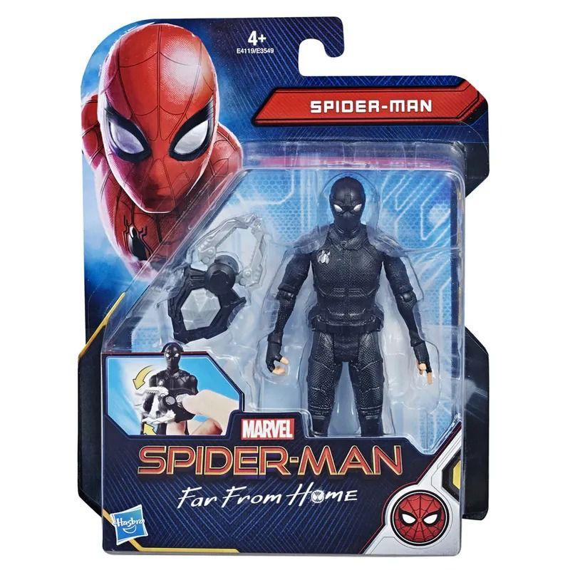Spider-Man Longe de Casa – Boneco SpiderMan Articulado com Garra 15 cm - Hasbro  - Doce Diversão