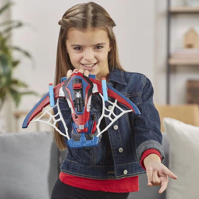 Spider-Man Longe de Casa – Lançador Arco Aranha Nerf - Hasbro  - Doce Diversão