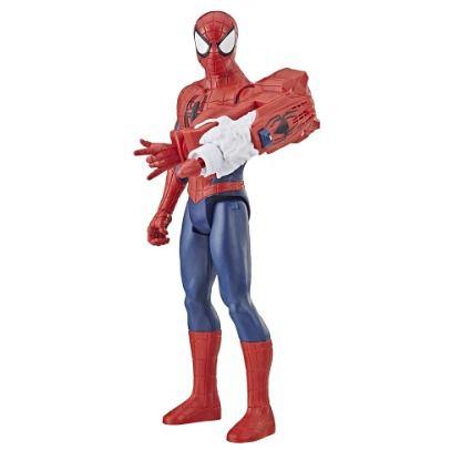 SpiderMan Titan Power FX - Homem Aranha 30 cm Com Som Português E Lança Dardo Hasbro  - Doce Diversão