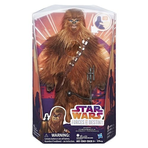 Star Wars Chewbacca Wookie 30 cm Deluxe C/ Som  - Hasbro  - Doce Diversão