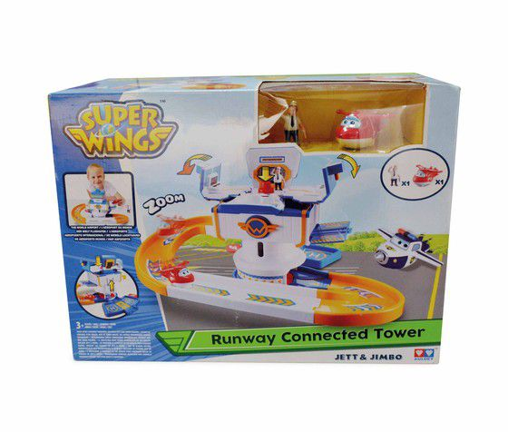 Super Wings Torre de Controle + Jett + Jimbo - Fun  - Doce Diversão
