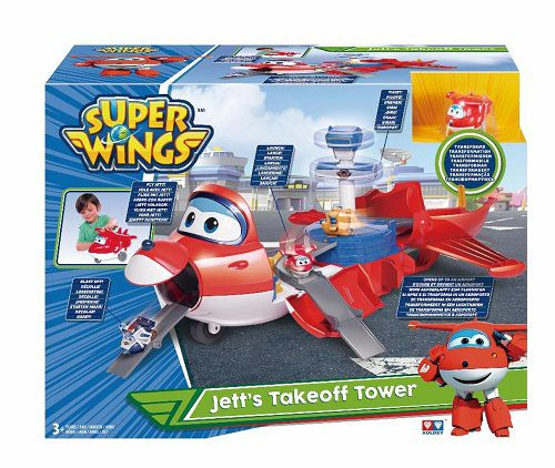 Super Wings Torre de Decolagem do Jett  Gigante 2 em 1 - Fun  - Doce Diversão