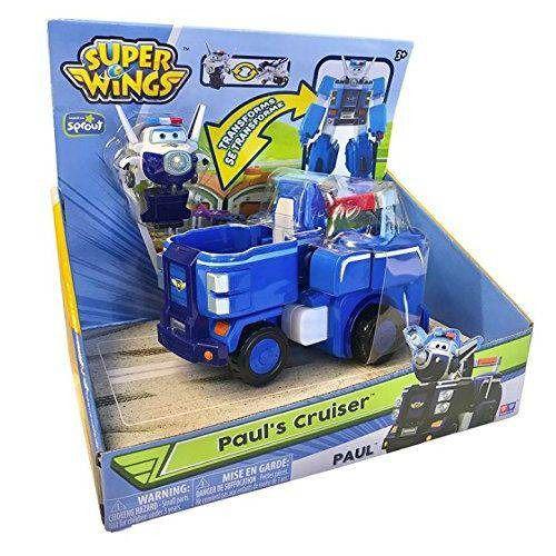 Super Wings Transformaçao Paul Cruiser – Veículo vira Robo - Fun  - Doce Diversão