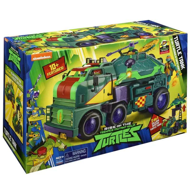 Tartarugas Ninja Ascensão – Tanque Tartaruga - Operação Móvel e Playset 2 em 1  - Sunny  - Doce Diversão